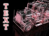 3d truck and text — Stock Photo