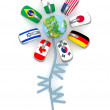 Www flag internet flower — Stockfoto #9524211
