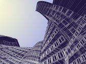 Abstract skyscrapers — Stockfoto