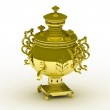 Old copper samovar isolated on a white background — Stock Photo #9695403