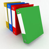 Folders for papers on a white background — Stock Photo