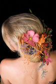 Flowers in her Hair — Stock Photo