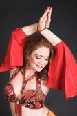 Belly Dancer in Red — Stock Photo