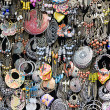 Stock Photo: Earrings on market stall