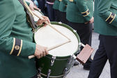 Drum in Holy week — Stock Photo