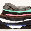 Stock Photo: Pile Of Old Clothes
