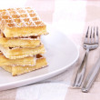 Heap of waffles — Stock Photo