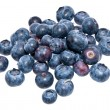 Heap of blueberries isolated on white — Foto de Stock