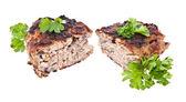 分離したパセリを半減バーガー — ストック写真