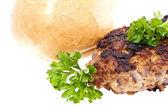 Hamburger isolato su sfondo bianco — Foto Stock