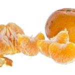 Geschälte und ungeschälte Mandarine — Stock Photo