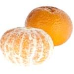 Geschälte und ungeschälte Mandarine — Stock Photo #8356348