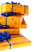 Freigestellter Geschenkstapel — Stock Photo