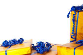 Geschenke am Bildrand — Stock Photo