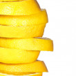 Stacked orange slices - Stock Photo
