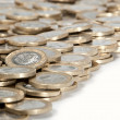 Heap of 2-Euro coins — Stock Photo