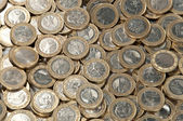 Big heap of 1-Euro coins — Stock Photo