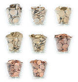 Glasses with Euro-Coins — Stock Photo