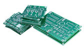 Stacked circuit boards — Stock Photo