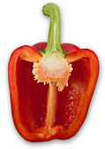 Halved bell pepper — Stock Photo