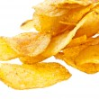 Heap of potatoe chips — Stock Photo