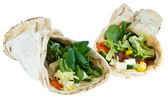 Veggie Wraps — Stock Photo