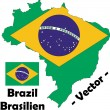 Brazil vector map — Stock Vector #9474892