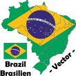 Brazil vector map — Stock Vector #9474894