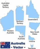 Australias territories — Stock Vector