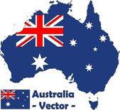 Australia vector — Stock Vector