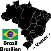 Brazil vector map — Stock Vector
