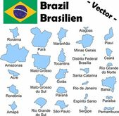 Brazil (Administrative divisions) — Stock Vector