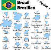 Brazil (Administrative divisions) — Stock Vector