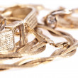 Heap of old jewellery — Stock Photo