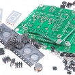 Royalty-Free Stock Photo: PCBs with different electronic parts