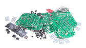 PCBs with different electronic parts — Stock Photo