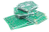 PCBs on white background — Stock Photo