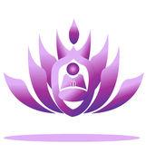 Lotus and yoga — Stock Vector