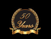 Gold 50th anniversary — Stock Vector