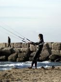 Kite surfer — Stock Photo