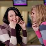 Two beautiful girls talking — Stock Photo #8597924