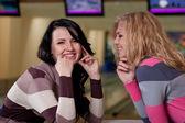 Two beautiful girls talking — Stock Photo