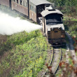 Jia Yang steam train, China - Stock Photo