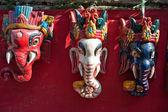 Nepal woodcarving mask, — Stock Photo