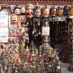 Постер, плакат: Masks pottery souvenirs Nepal