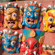 Masks, pottery,souvenirs, Nepal — Stock Photo