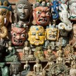 Royalty-Free Stock Photo: Masks, pottery,souvenirs, Nepal