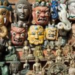 Masks, pottery,souvenirs, Nepal — Stock Photo #10445175