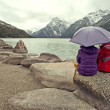 Ganzi Prefecture in Sichuan, the new road sea lake — Stock Photo