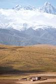 China's Sichuan province, Tibetan plateau houses — Stock Photo